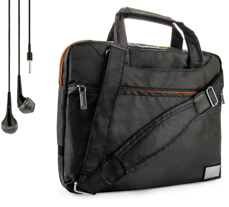NineO Sport Nylon Shoulder Bag Carrying Case For NVIDIA SHIELD & SHIELD 2 Tablet (All Models) + Handsfree Earphones