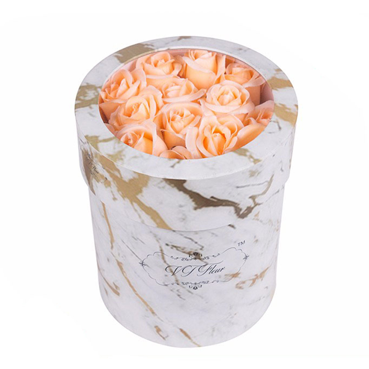 wholesale paper round flower box cardboard