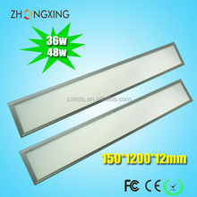 warm white,pure white,cold white 36w 48w 15*120cm flexible led panel