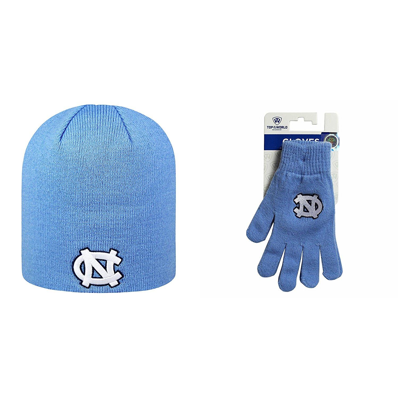 NCAA North Carolina Tar Heels Classic Beanie Hat And TOW Knit Glove 2 Pack Bundle