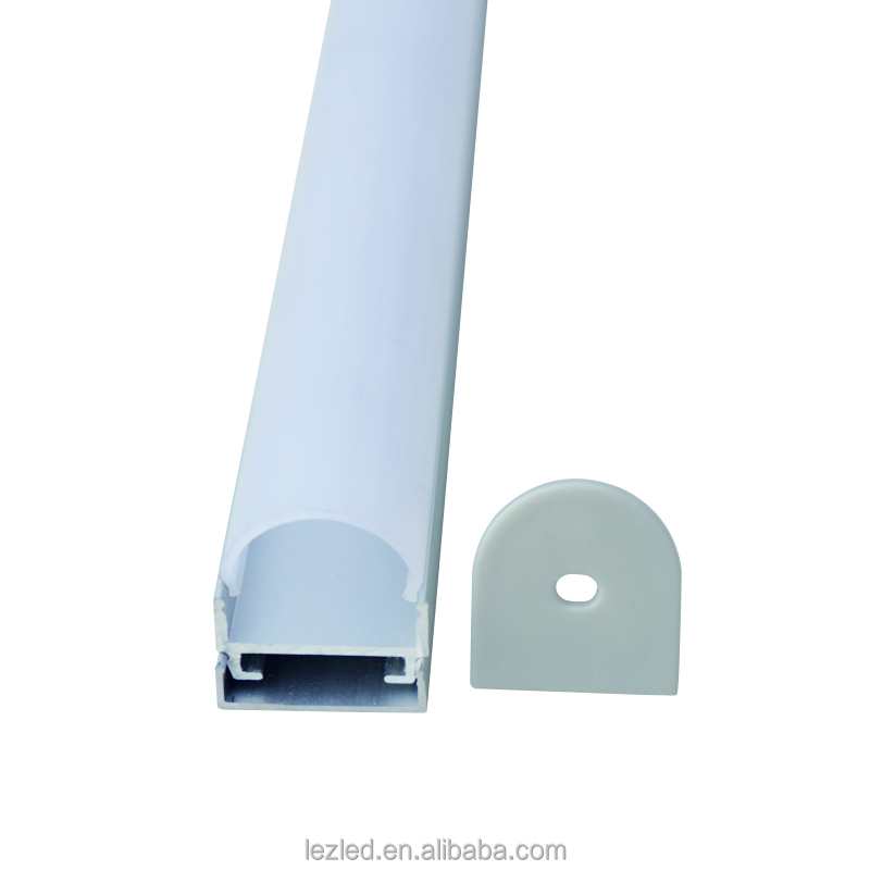 U-Shape Aluminum Channel for surface and recessed LED strip installation,Aluminum Profile with diffuser cover
