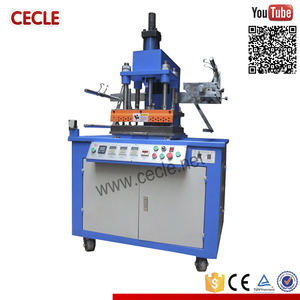 hydraulic 8T leather logo embossed hot foil stamping machine price