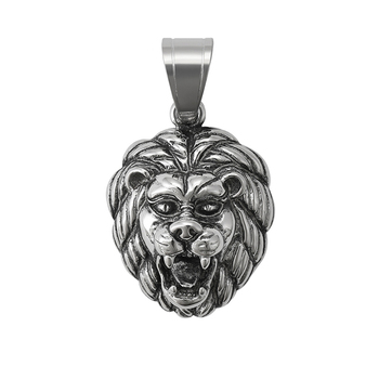 34387 Xuping Lion King Tribal Men Stainless Steel hip hop jewelry pendant