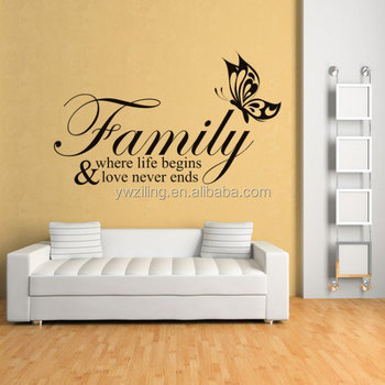 Za167 Modern Stickers Family Where Life Begins Family Friends