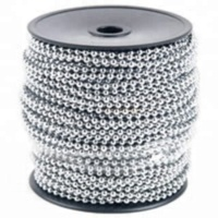 1000 feet 2.4mm silver ball chain with 500 FREE connectors