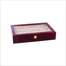 wooden ring case collection jewelry wooden box storage wooden watch box glass top