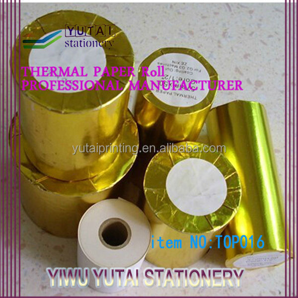 Best price thermal paper roll with Gold foil packing