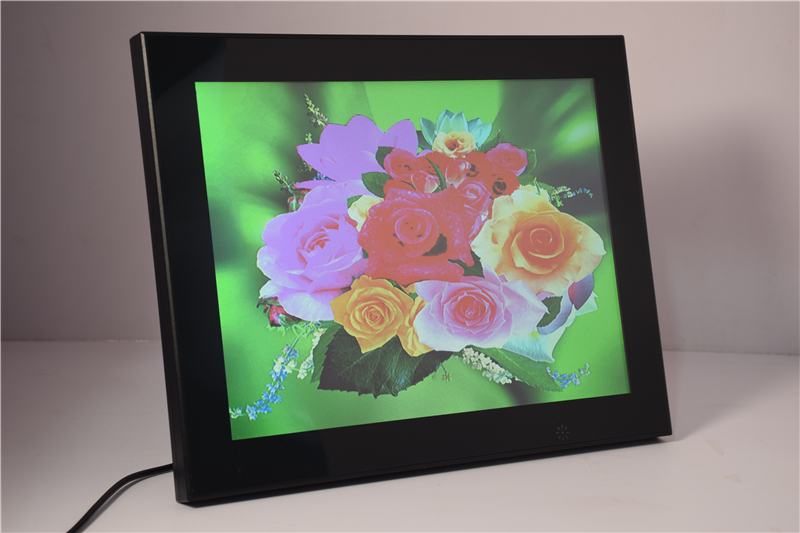 12 Inch Mirror Digital Picture Frame with Built in Lithium Battery