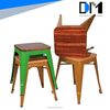 New Promotional Vintage Metal Bar Stool Base Rubber with Wood Seat