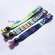 2018* high quality festival fabric wristband with plastic lock