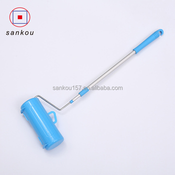 manufacturer long handle folding floor cleaning colorful lint roller sticky