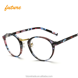a95cc55fbc3 Men women Round Sunglasses Retro Metal Frame Eyeglasses Korean Clear Lens  Glasses Male Female Optical