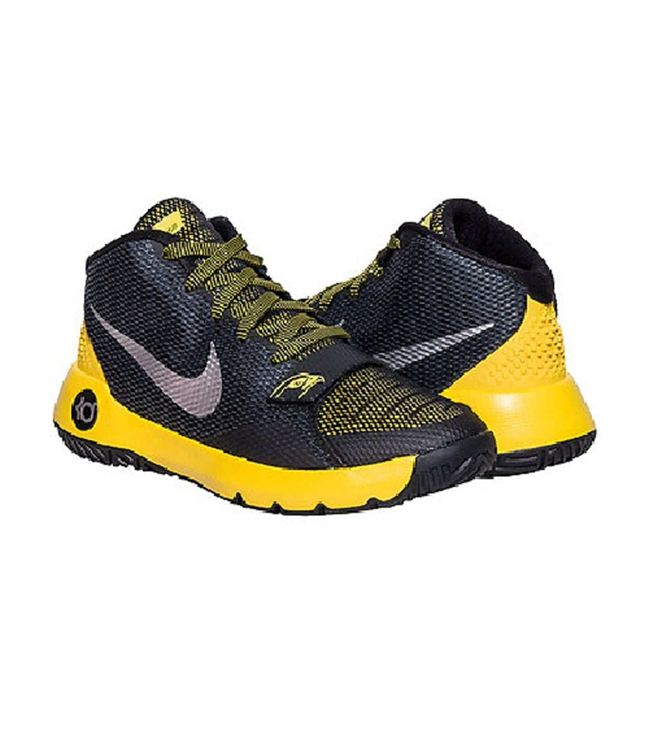 120c947588bc Nike 768870-00 KD Trey 5 III Black Yellow Basketball Shoes Youth Kids Sz 5