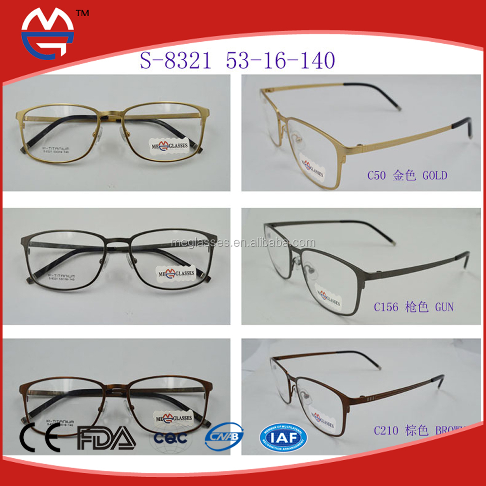 China Wholesale Ready Made Branded Titanium Optical eyeglasses frame Super Light&Flexible Shapes Magnetic Titanium Led Glasses