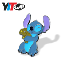 Wholesale promotional koala bear Lilo&Stitch cute metal badge lapel pin