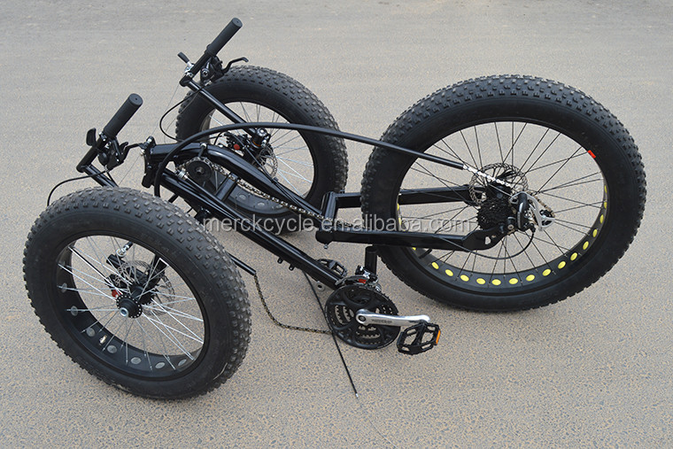 Beach Cruiser 3 Wheel Foldable Electric Fat Tire Rebent Trike