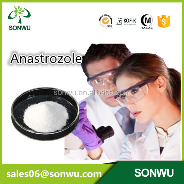 factory supply 99% Anastrozole / Arimidex / cas.120511-73-1 For Breast Cancer Treatment