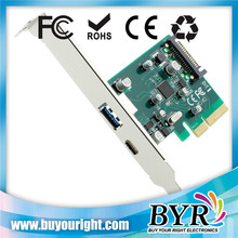 Dual Port USB 3.1Type-C and USB 3.0 Express Card For PCI