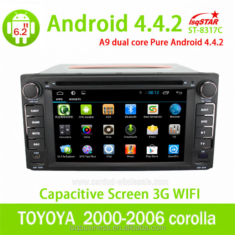 Android 4.4 for <strong>TOYOTA</strong> <strong>corolla</strong> universal CAR DVD BLUETOOTH <strong>TV</strong> GPS NAVIGATION IPOD 3G/WIFI PLAYER
