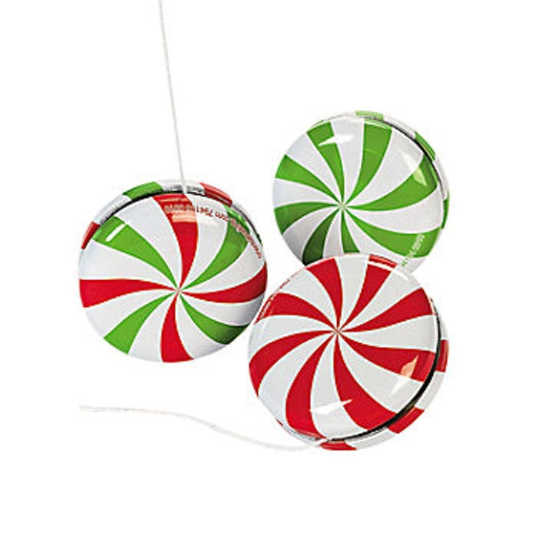 get quotations wholesale bulk christmas metal peppermint candy yo yos 24 pack - Bulk Christmas Candy