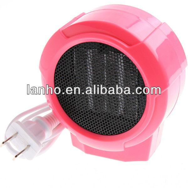 Mini radiateur c ramique personnels portables lectrique ventilateur 220 v 100 w forc rose for Radiateur electrique portable