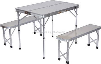 Miraculous Portable Aluminum Folding Picnic Table With 2 Bench Seats Buy Aluminum Folding Picnic Table With Umbrella Outdoor Garden Aluminum Portable Folding Onthecornerstone Fun Painted Chair Ideas Images Onthecornerstoneorg
