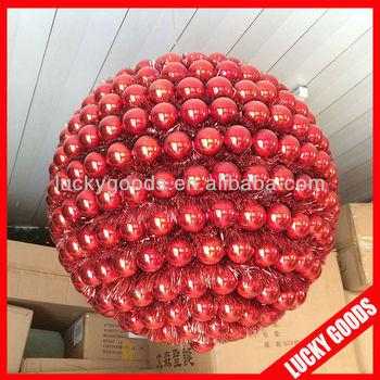 40cm diameter shiny plastic giant christmas ornament ball decoration - Giant Christmas Balls