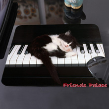 Best Sales Customized Mouse Pad Animals Cats Feline Piano Keyboards Kittens Computer Notebook Rectangle Rubber Mouse Mat Pad