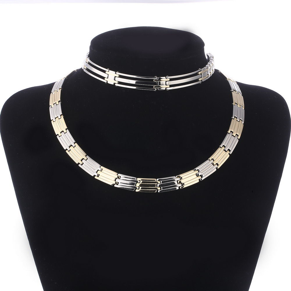 Silver&Gold Plated Jewelry <strong>Sets</strong> For Women Men New Design Choker Necklace & Bracelet Jewelry <strong>Set</strong> Stainless Steel Jewelry <strong>Sets</strong>