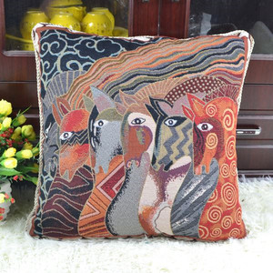 wholesale tapestry Colorful abstract pattern cushions and pillows