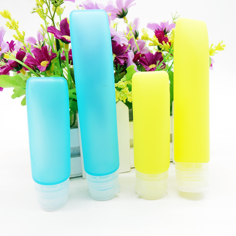 Leak proof Silicone Travel Bottle for Carry-on Luggage Liquid,Clear Empty Container Shampoo Bottles, Green