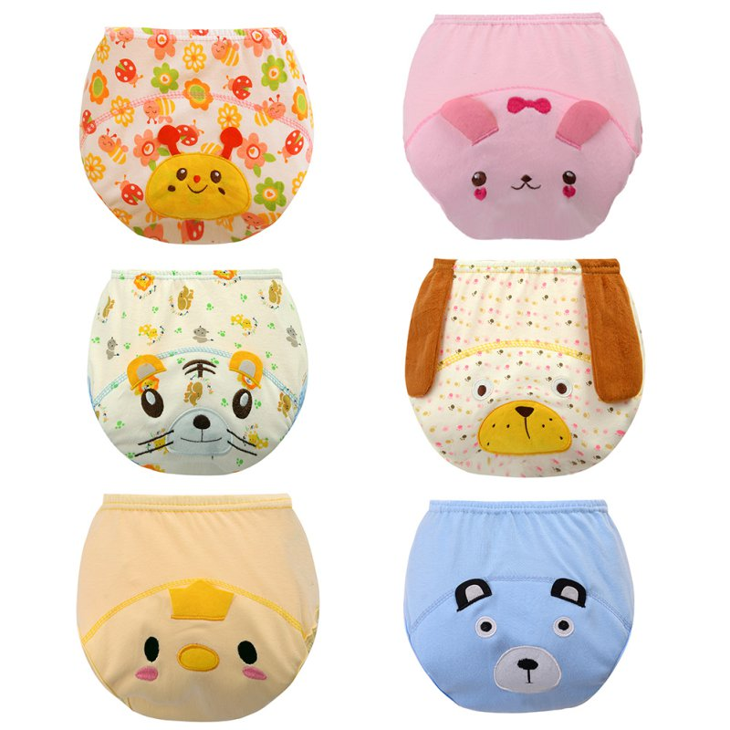 4 18 Monthes Washable Cloth Cartoon Design Nappy Baby Diaper Washable Baby Nappy Cloth Reusable Diaper