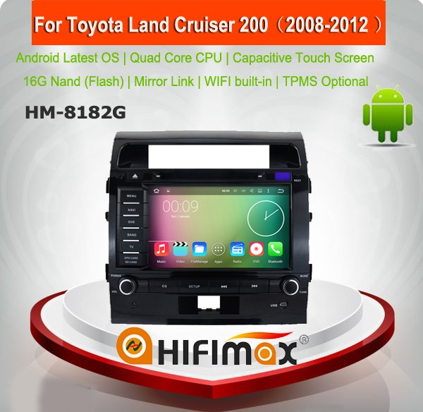 Hifimax Touch Screen DVD For Toyota Land Cruiser Prado 200(2008-2012) Android 7.1 Car DVD With Quad Core 1080P WIFI 3G INTERNET