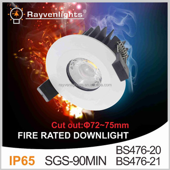 Rayven 8w 10w Led Lux Down Light Uk Standard Fire Rated Downlight ...