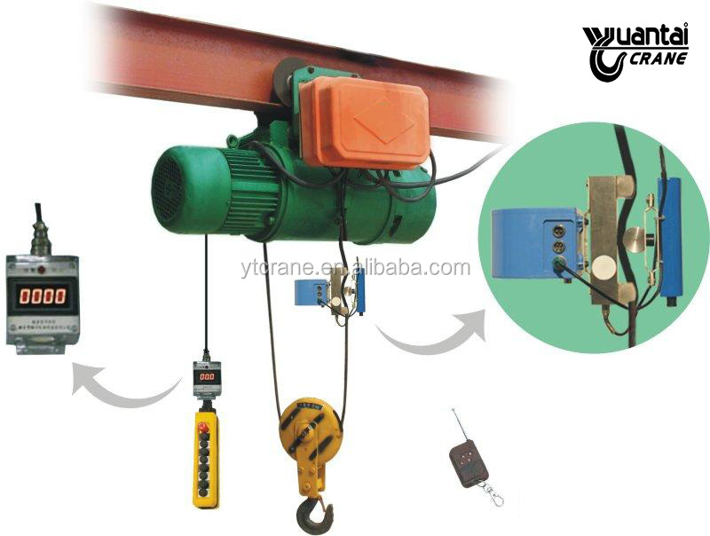 2019 yale barato 1,5 5 10 1 Ton cuerda de alambre equipo elevador de polipasto eléctrico 3000kg 5 ton precio con motor/carro utilizado para grúa