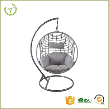 Astounding Outdoor Patio Rattan Wicker Hanging Egg Swing Chair With Metal Stand Buy Hanging Egg Chair Rattan Hanging Chair Swing Egg Chair Product On Bralicious Painted Fabric Chair Ideas Braliciousco
