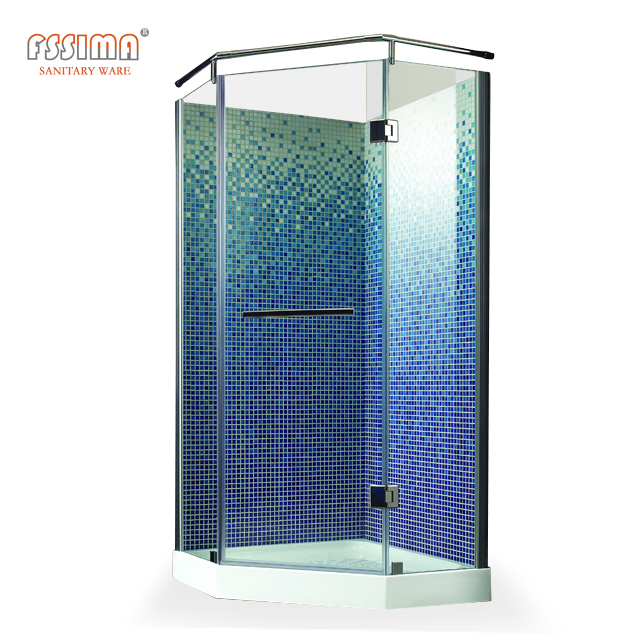 China sector free standing glass shower enclosure shower room