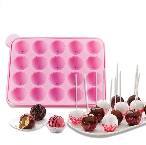 Colorful and popular silicone cake maker chocolate lollipop candy mold
