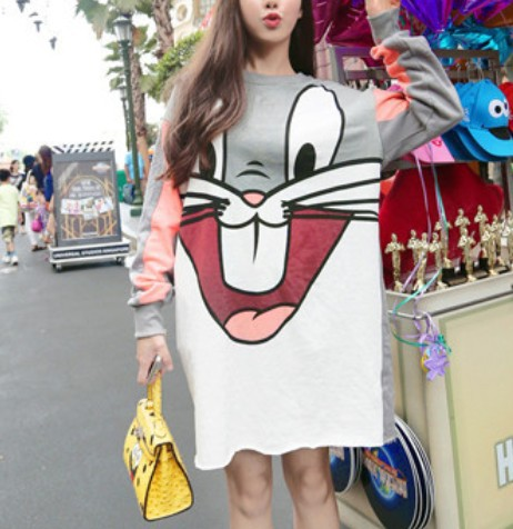 High quality Hot 2015 New Fashion Casual Exclusive Custom Color Matching Hoodies Loose All match Dress