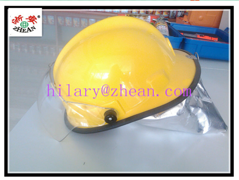 fire helmet with visor with glass faiber and polycarbonate visor