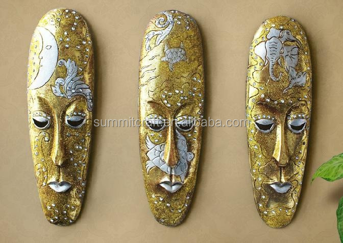 Antinque wall decor resin African mask