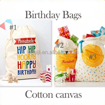 Personalized Monogrammed Birthday Present Sacks Gift Bags In Stock