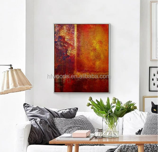 Big red color Germany abstract oil painting on canvas for lobby