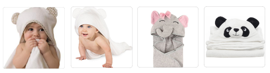 China wholesale 100% bamboo fiber hooded baby towel with high quality kids towel stock