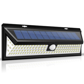 118 LEDS Outdoor Lighting Waterproof Solar Powered Outdoor Motion Sensor Wall Mounted Home Gate Lights Modern Lamp