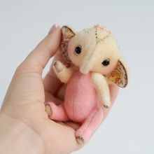 Mini baby elephant cub pokemon custom plush ของเล่น
