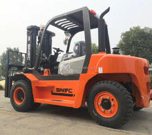China hot sael diesel forklift 5 ton with 3-stage mast