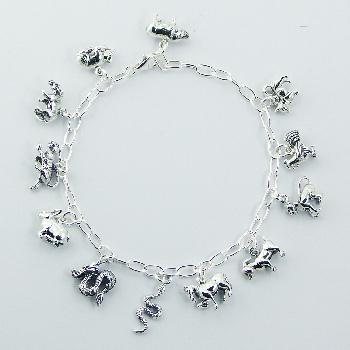 Sterling Silver Gorgeous Chinese Zodiac Charm Bracelet Bracelets With Charms Product On Alibaba