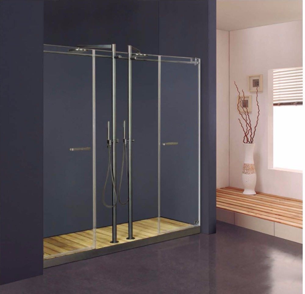 Two Hinged Bathroom Tempered Glass Door(KD8005)