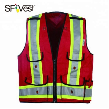 2018 new products reflective safety clothing safety vest with back pocket